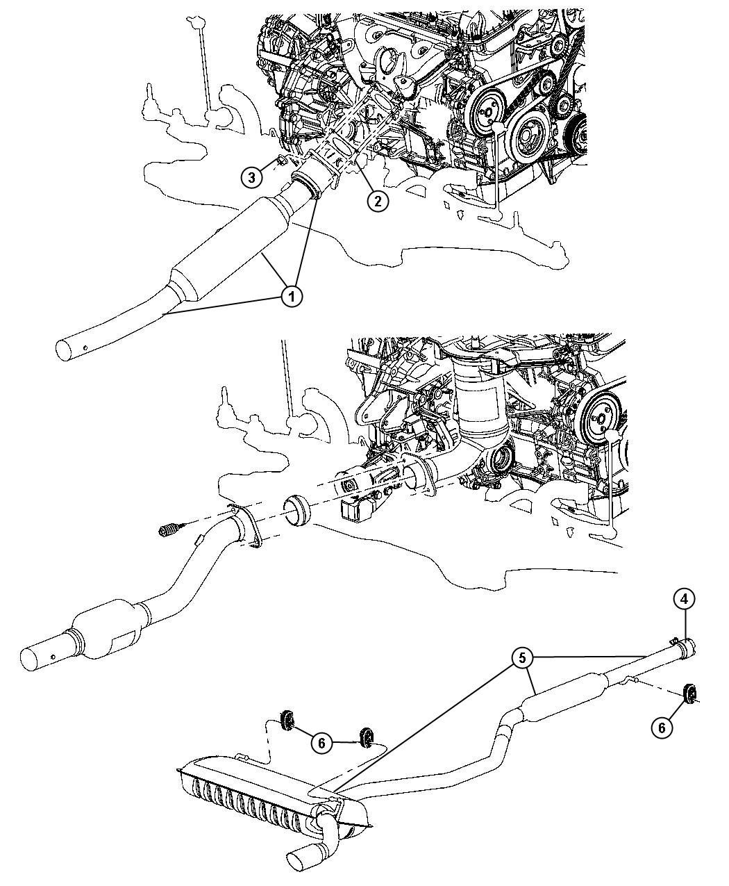 2010 Jeep Compass Converter. Catalytic, exhaust. Emissions
