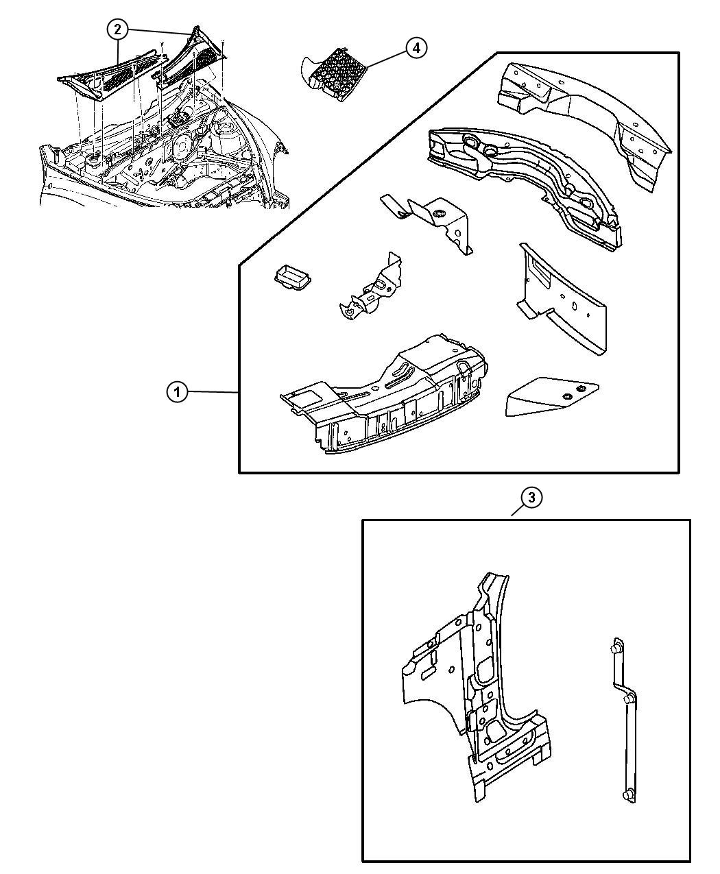 Dodge Ram 3500 Extension. Body side aperture. Left. Panel