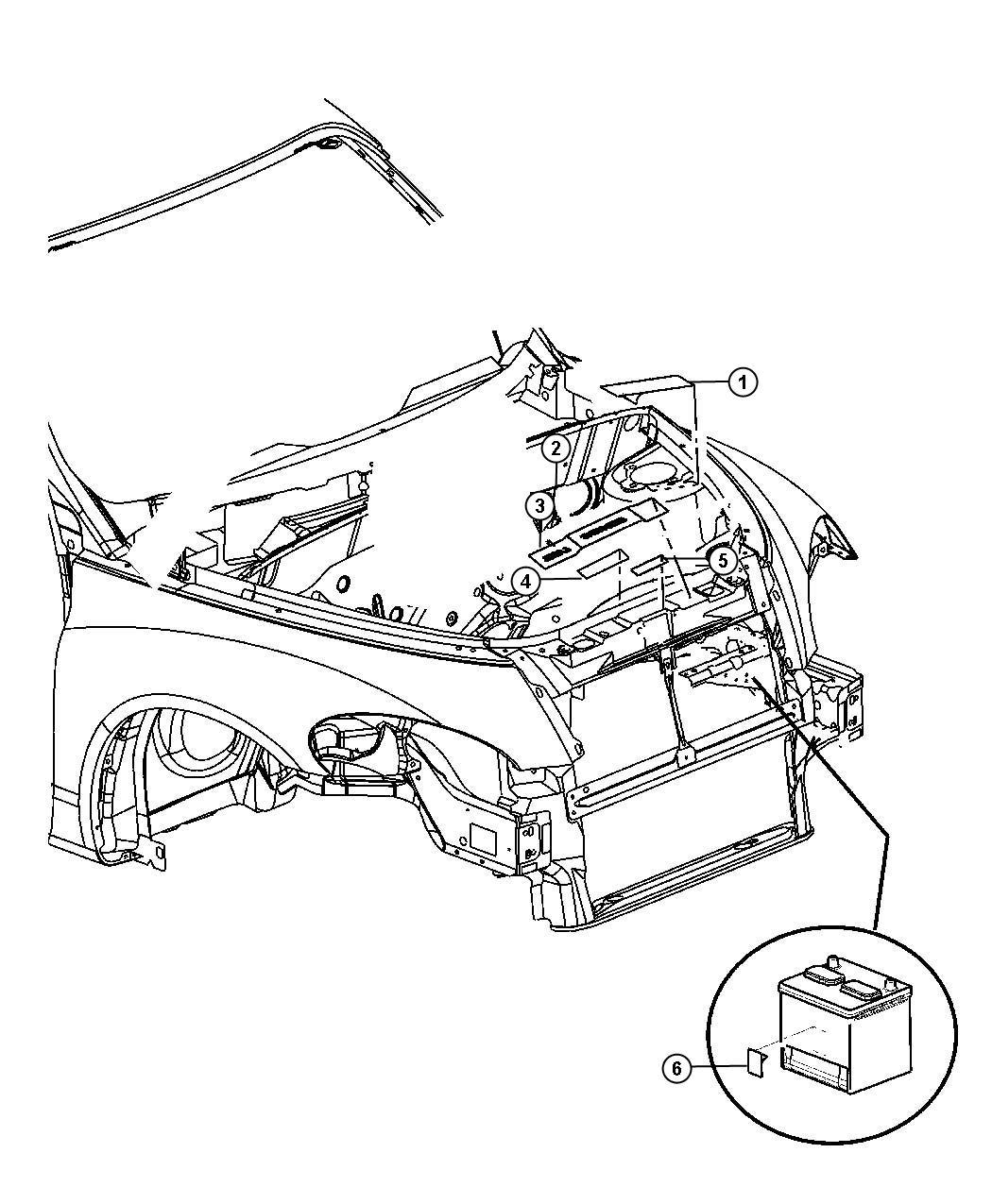 2009 Chrysler PT Cruiser Label. Coolant system cap