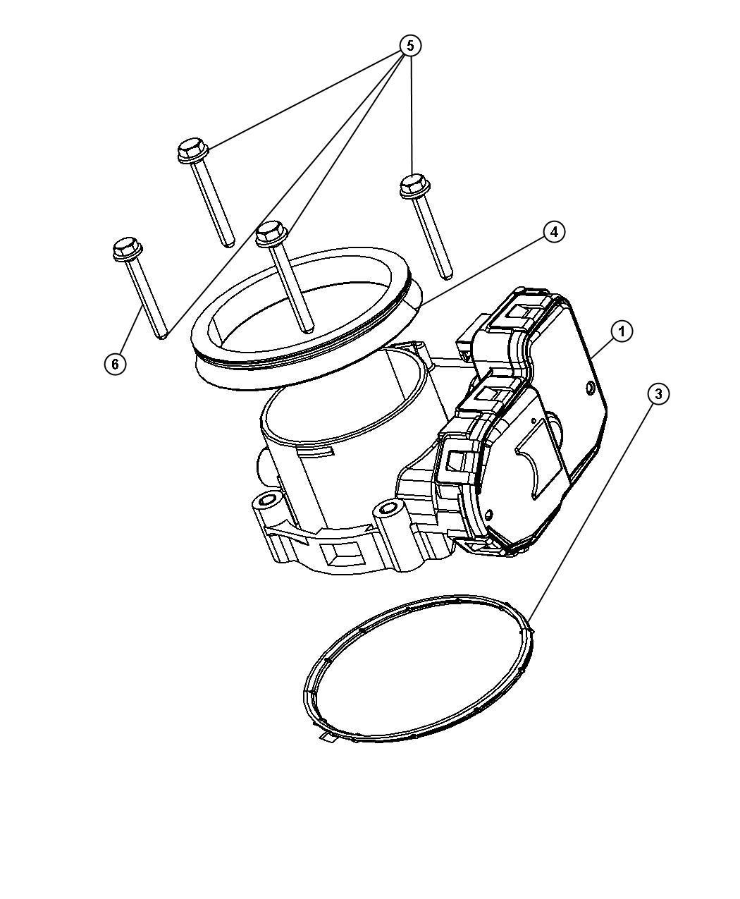 Chrysler Aspen Gasket, seal. Throttle body, throttle body