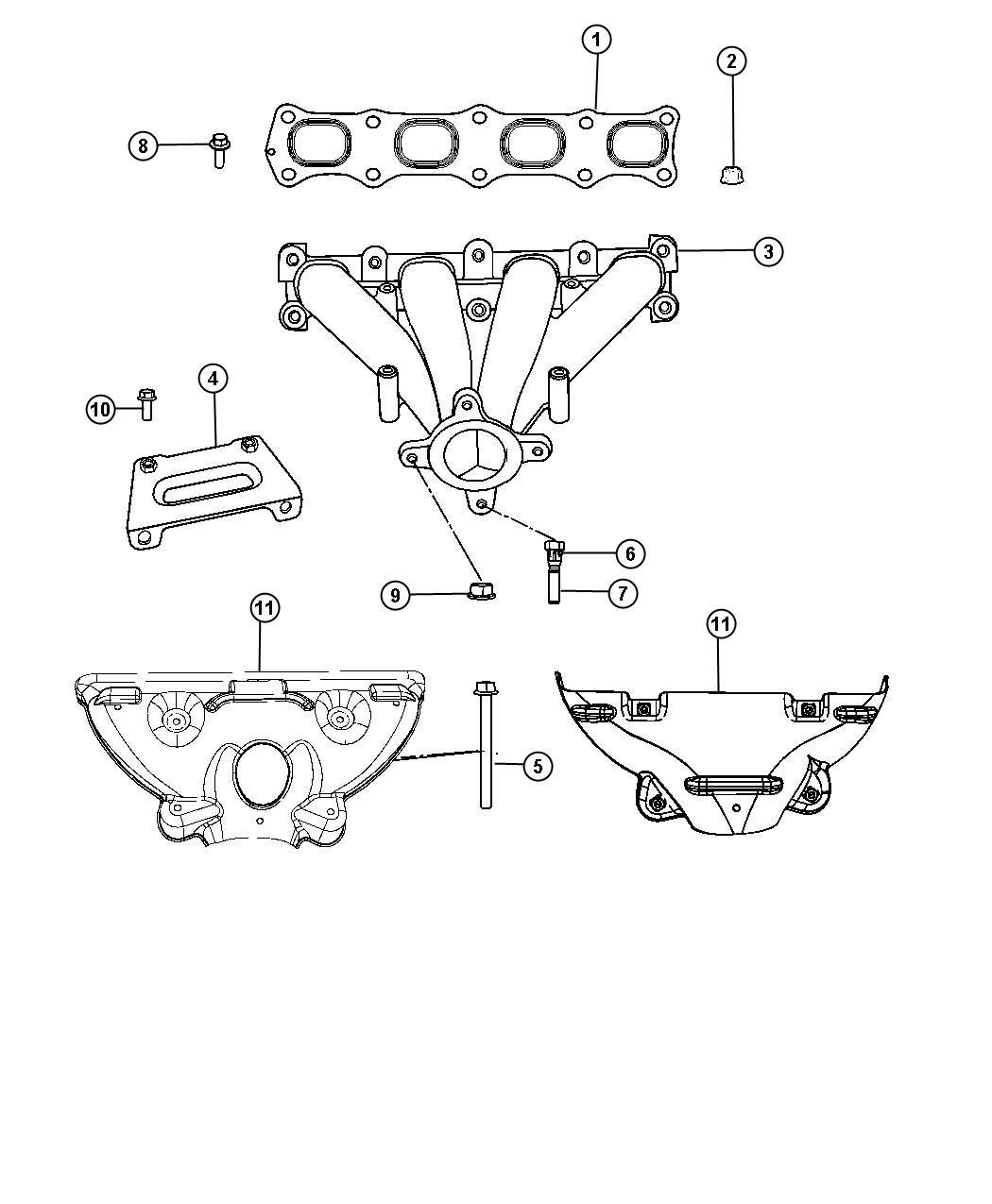 2010 Dodge Caliber Bolt. Hex flange head. M6x1.00x70.00
