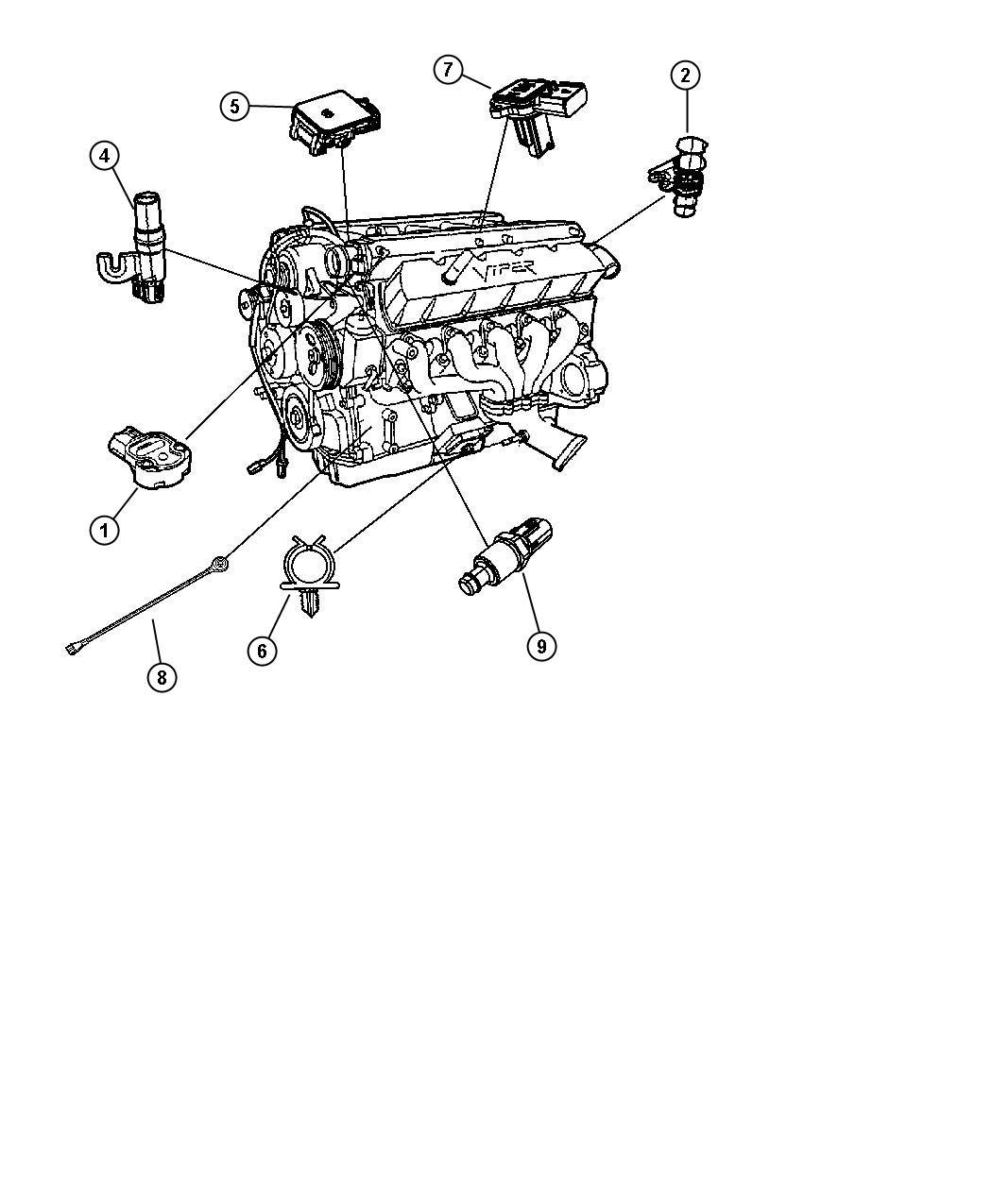 2010 Dodge Viper Sensor. Mass airflow. Engine, sensors