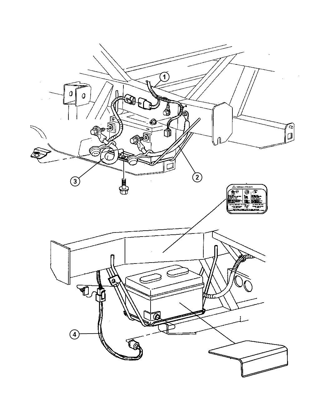 Dodge Viper Wiring Battery Negative Up To 05 07 03