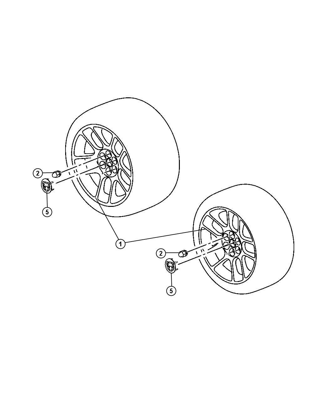 2010 Dodge Viper Wheel. Aluminum. Front. [18x10.0 19x13.0