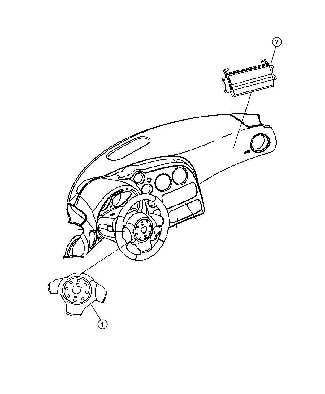 Dodge Viper Air Bag Passenger Trim All Trim Codes Instrument Panel Speedometer