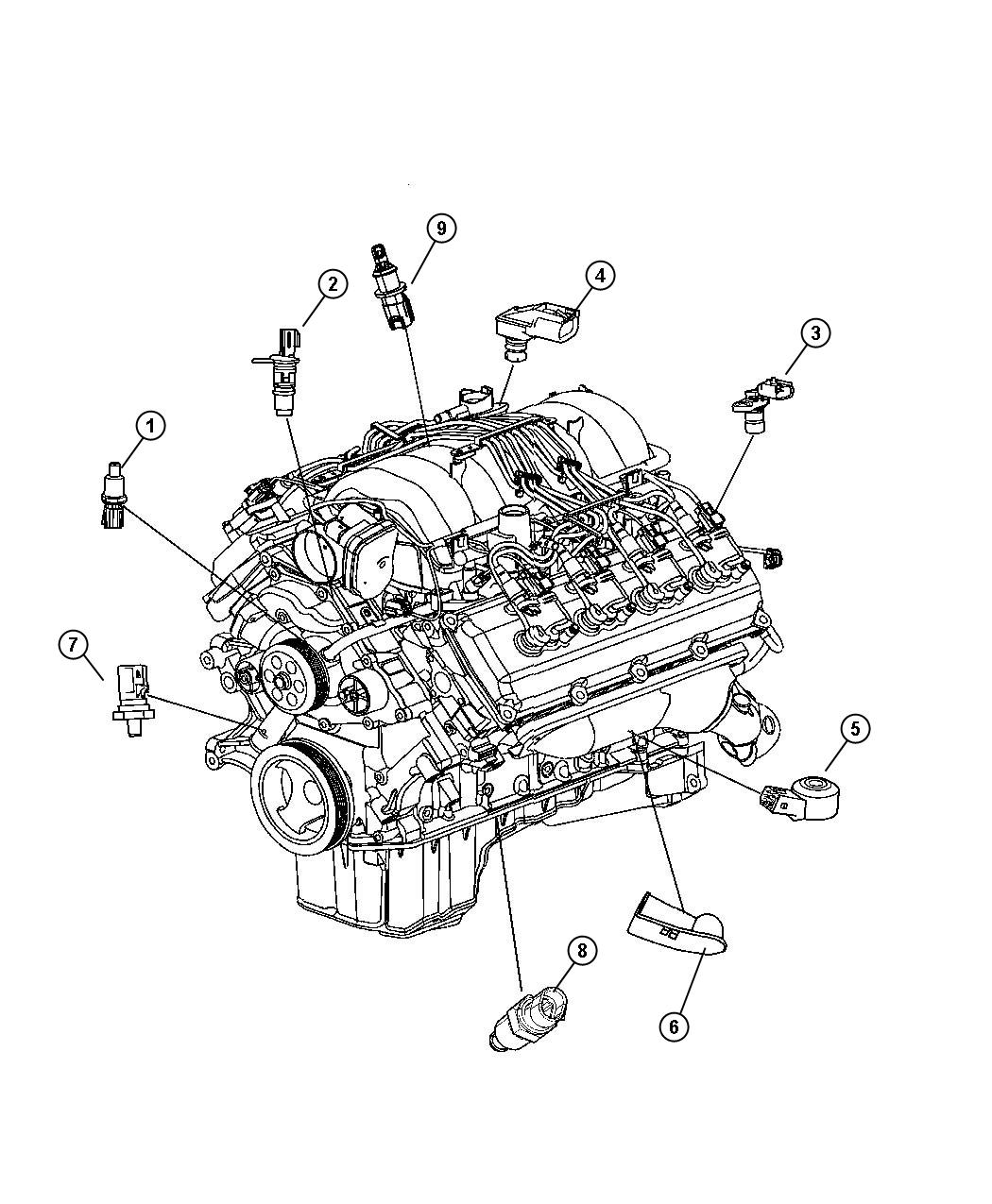 Jeep Grand Cherokee Sensor. Coolant temperature, fluid