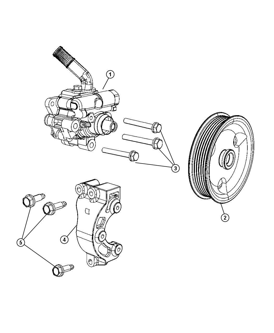dodge durango pulley diagram