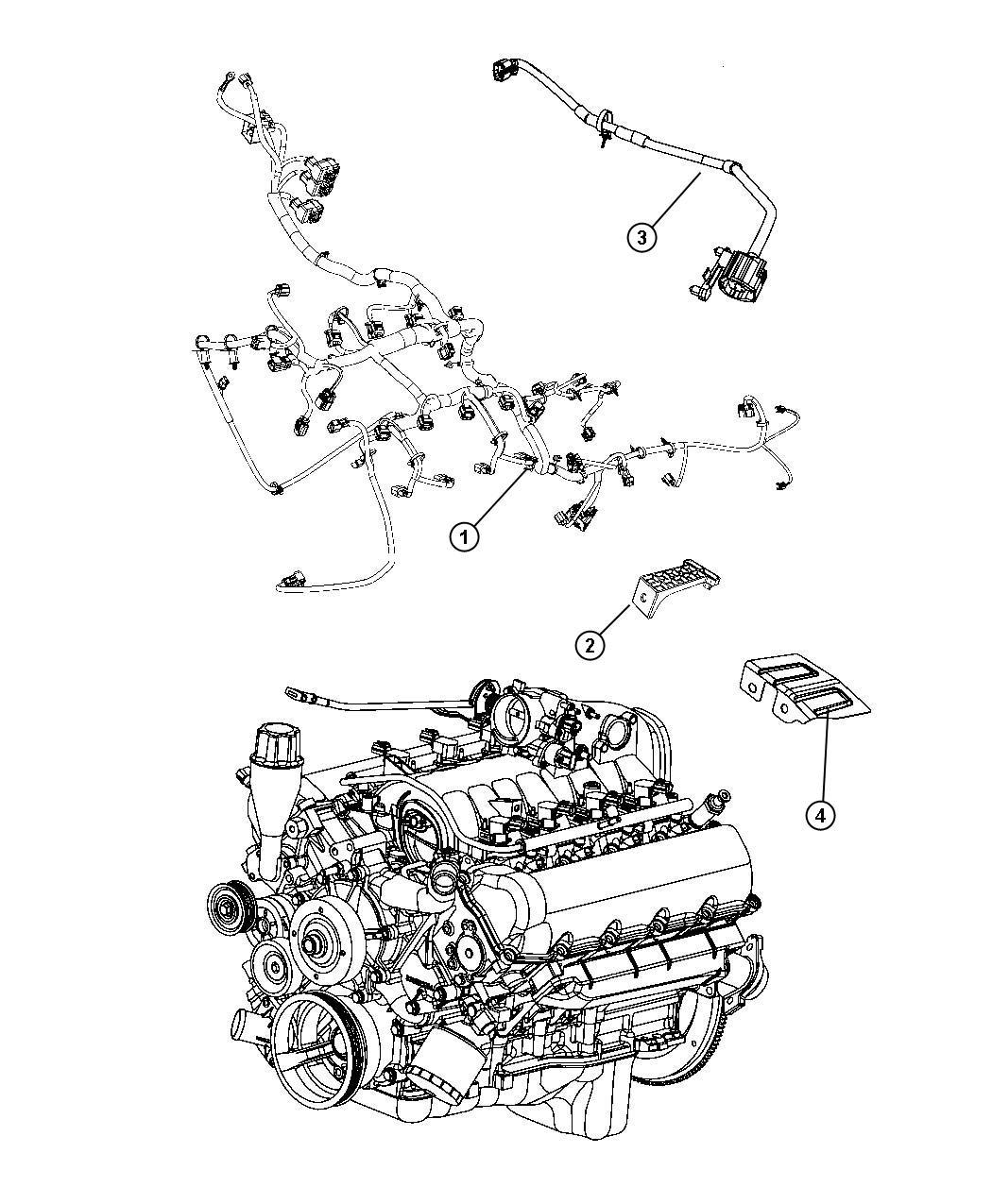 2011 Chrysler Sebring Bracket. Engine wiring. [all