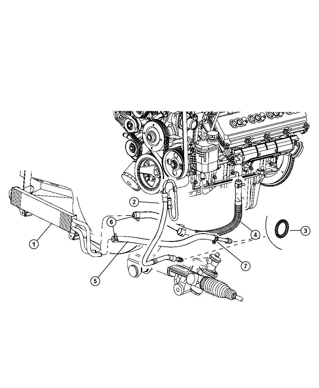 Ram Hose Power Steering Pressure Hoses Drive