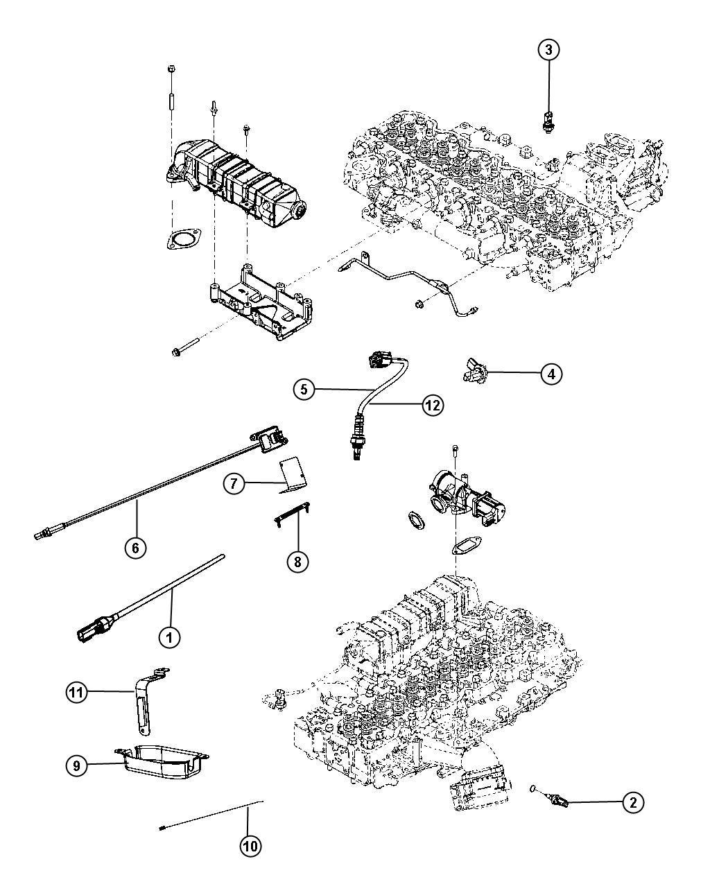 Dodge Ram 5500 Sensor. Nitrogen. Downstream, stamped