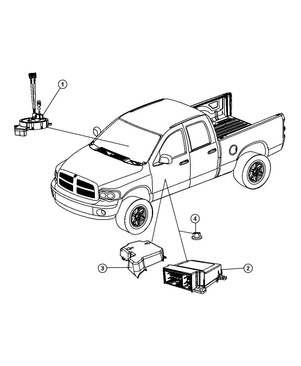 Dodge Ram 4500 Module. Occupant restraint. [driver air bag