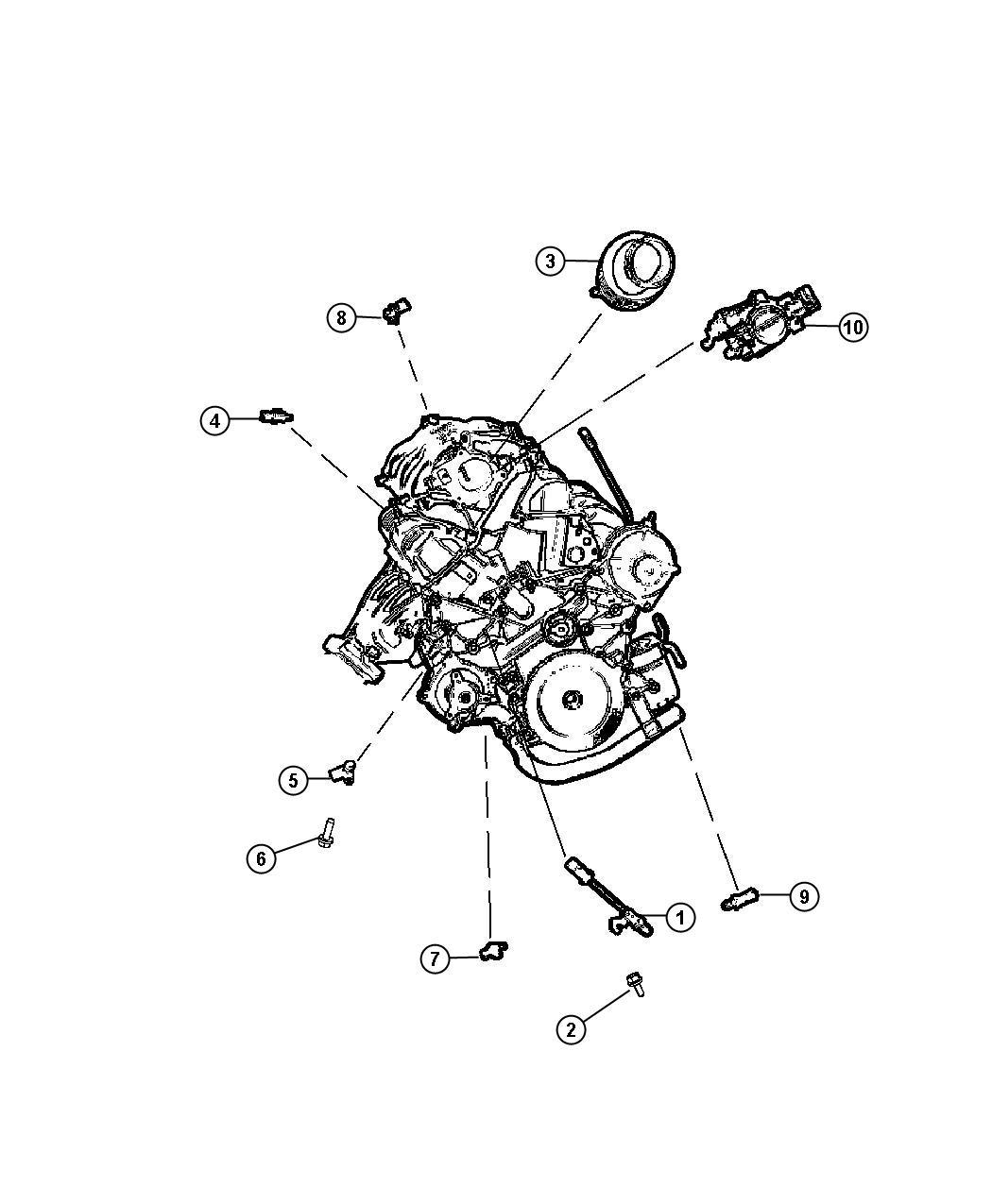 Dodge Grand Caravan Sensor Camshaft Sensors Engine