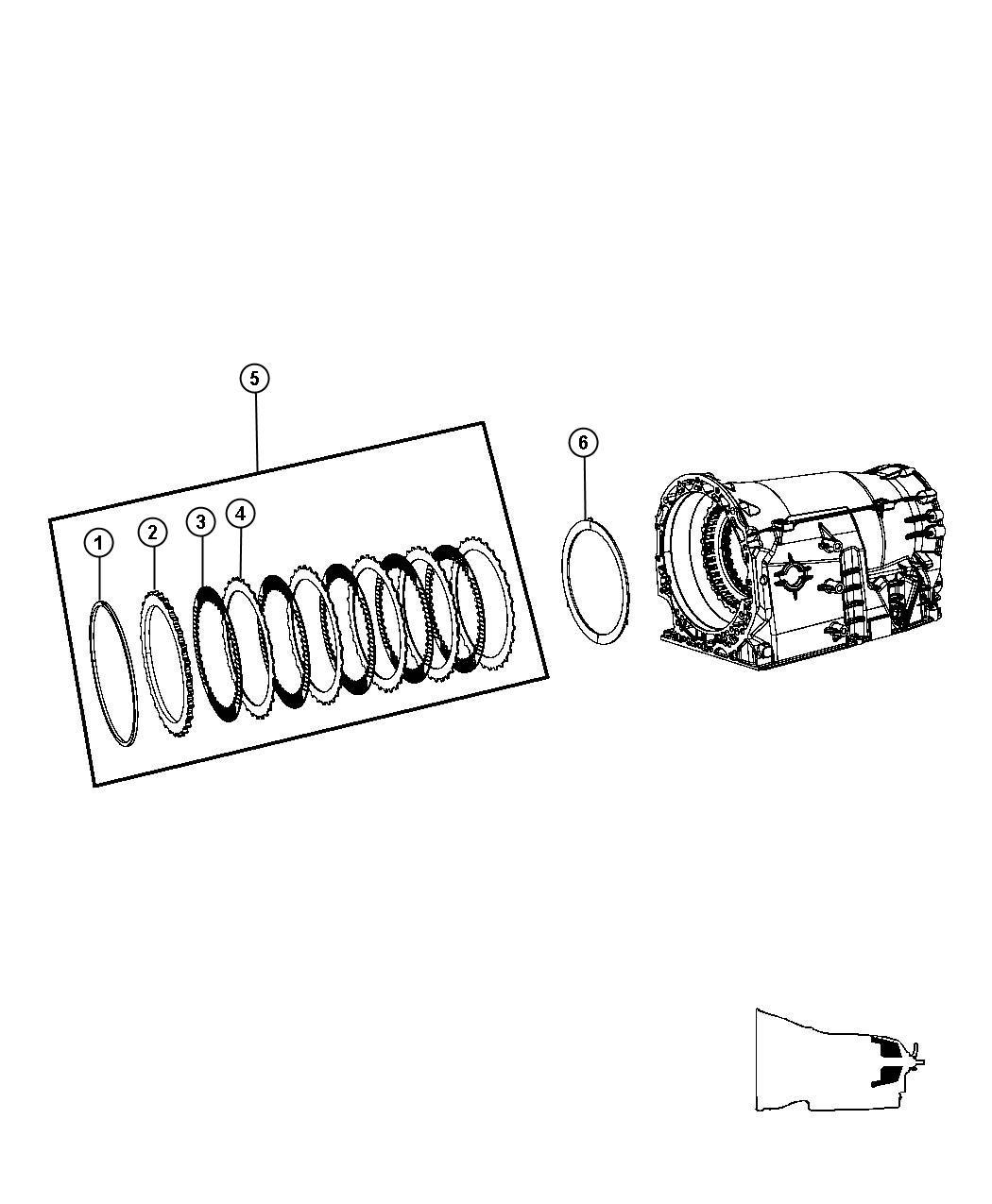 Jeep Grand Cherokee Clutch package. B3 brake clutch stack