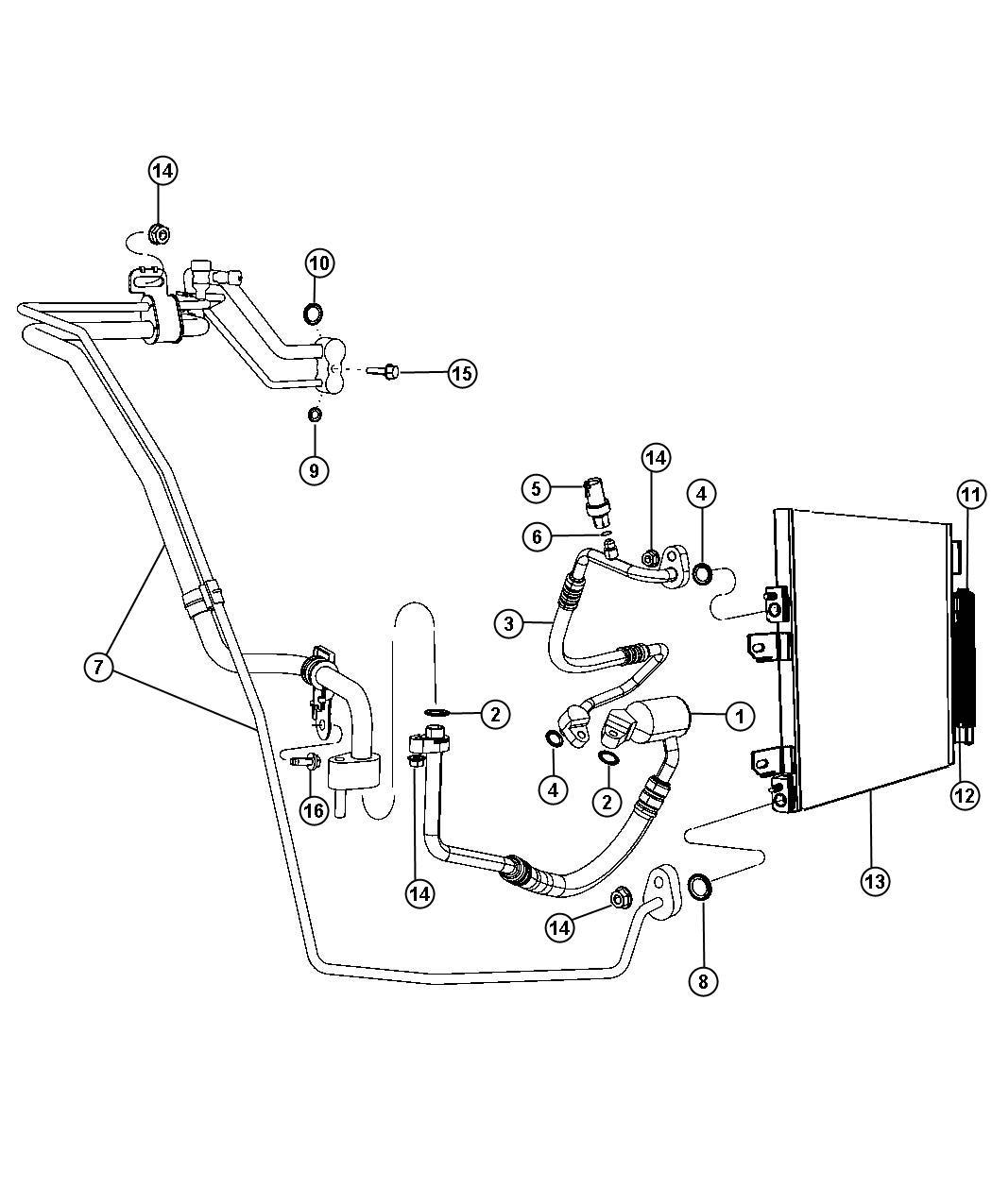 Dodge Caliber Drier. Receiver. Plumbing, conditioning, ecn