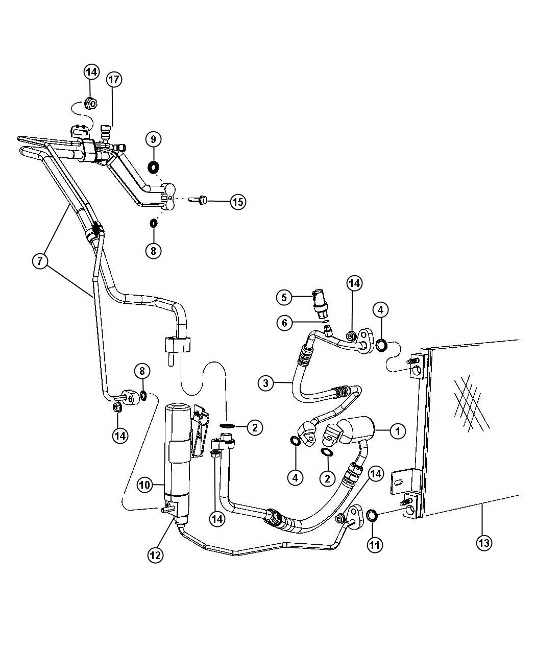 Jeep Compass Valve. A/c expansion. Conditioning, air