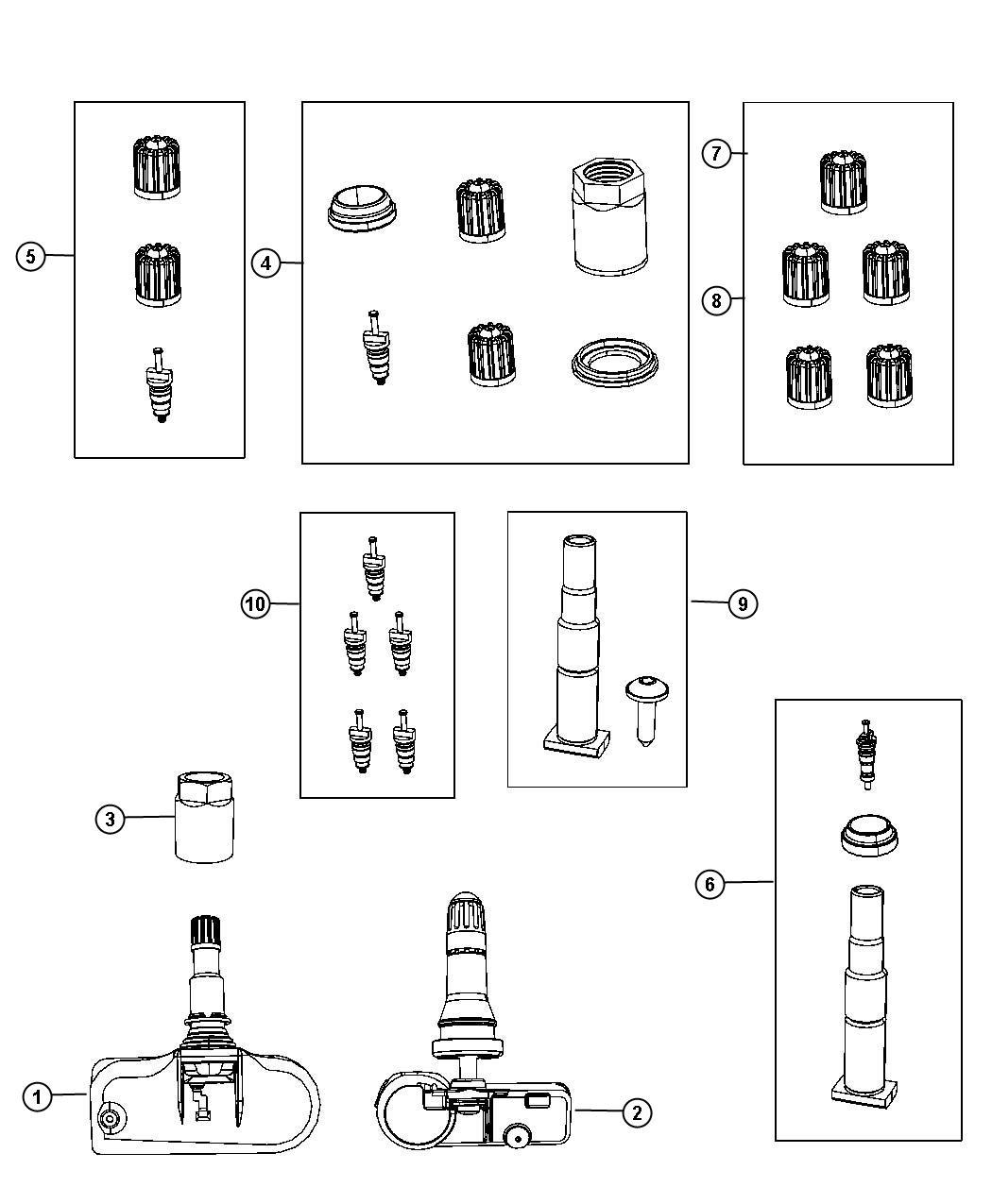 Dodge Challenger Sensor Tire Pressure Wej Wpq Wsc