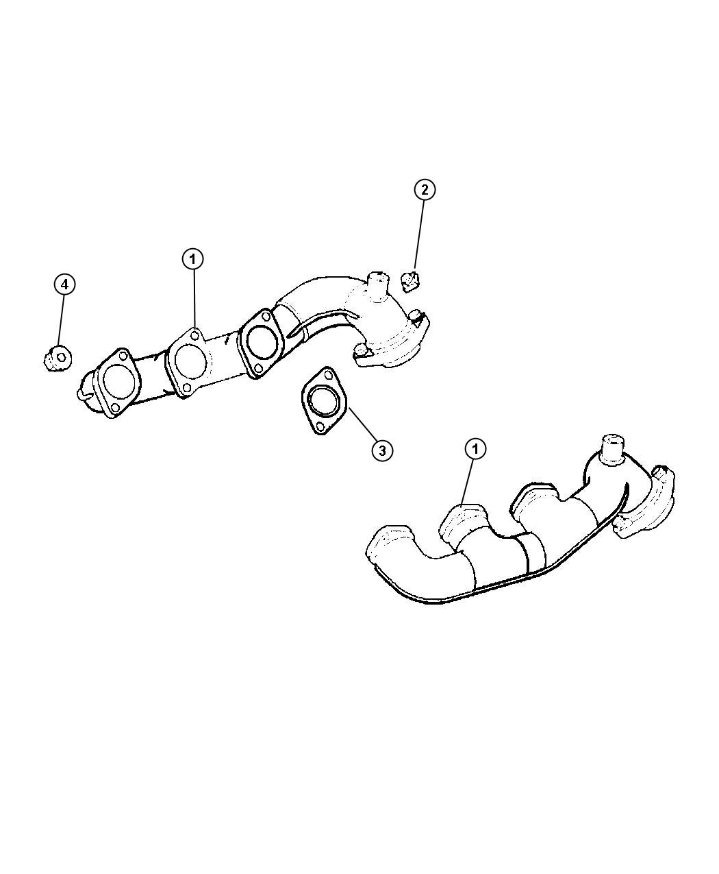 2006 Chrysler Crossfire Gasket. Exhaust manifold