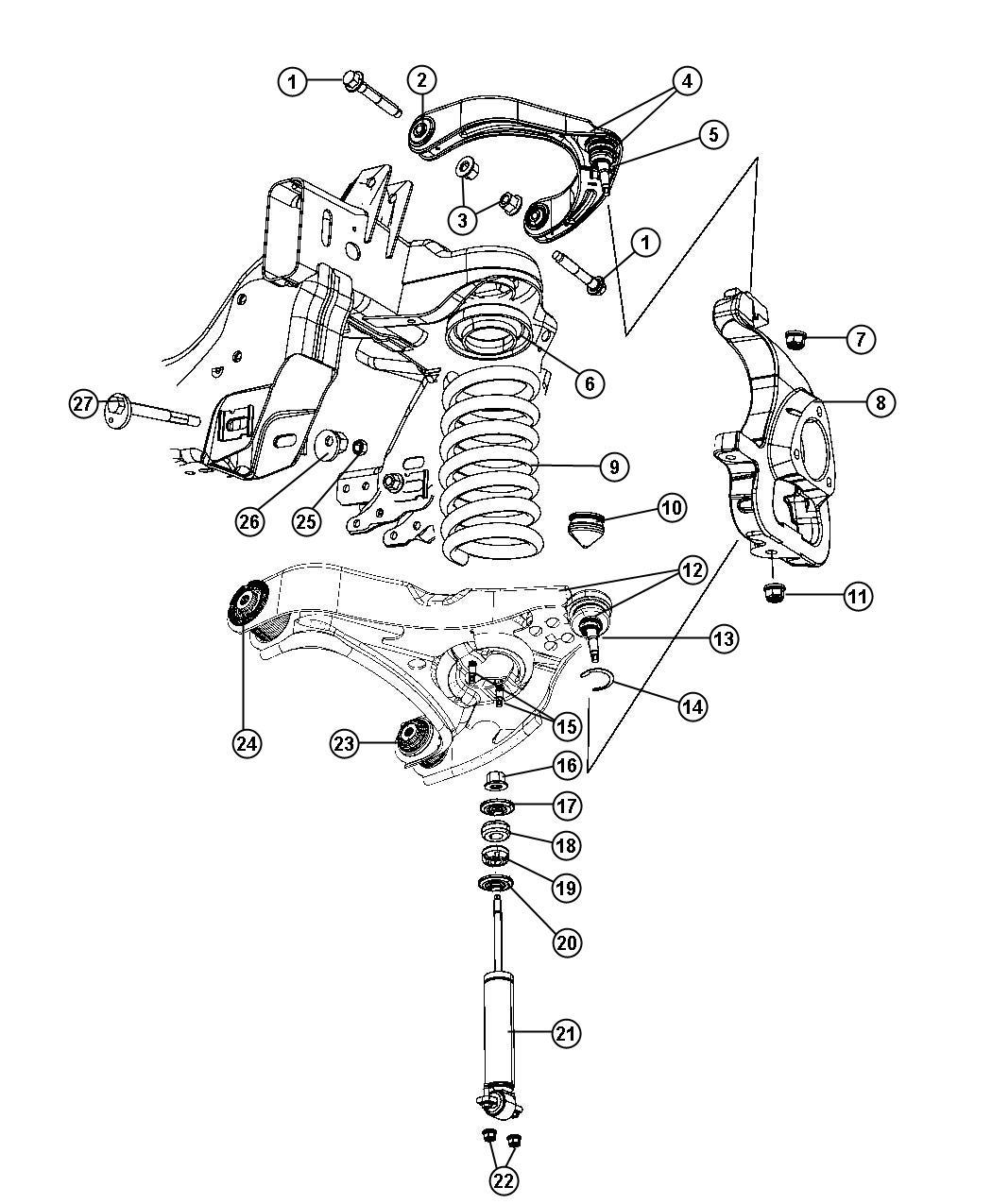 2012 Dodge Ram 3500 Shock absorber kit, shock absorber