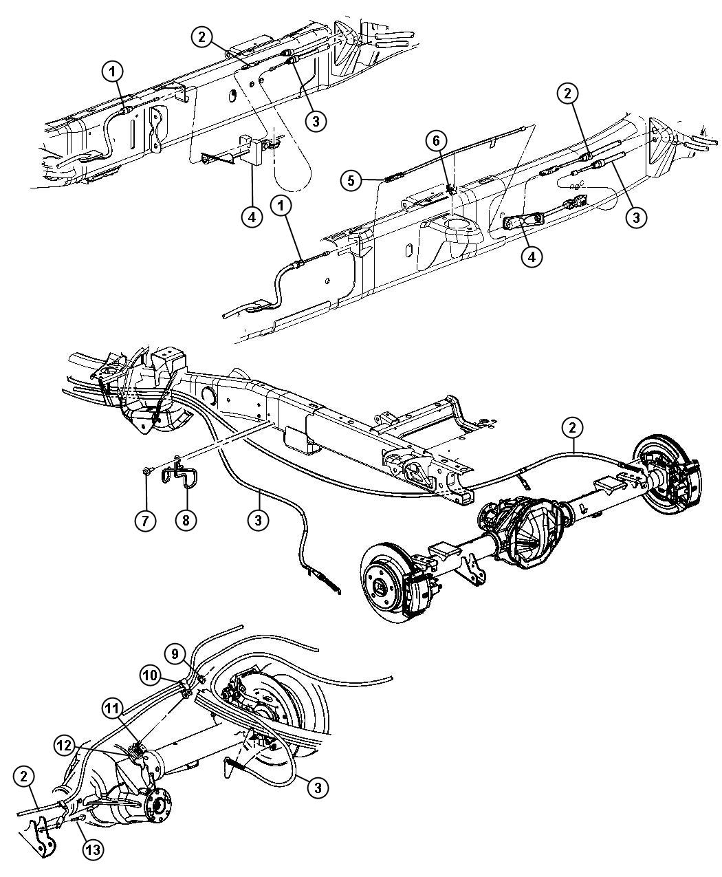 2013 Jeep Patriot Guide. Parking brake cable. Mounting