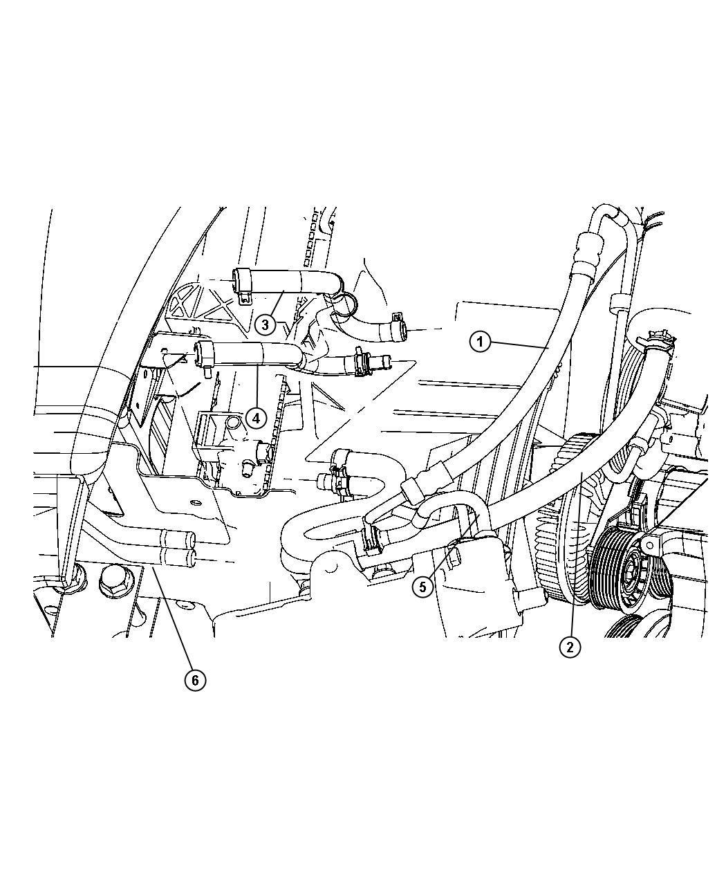 Dodge Ram Hose Power Steering Pressure Sbe