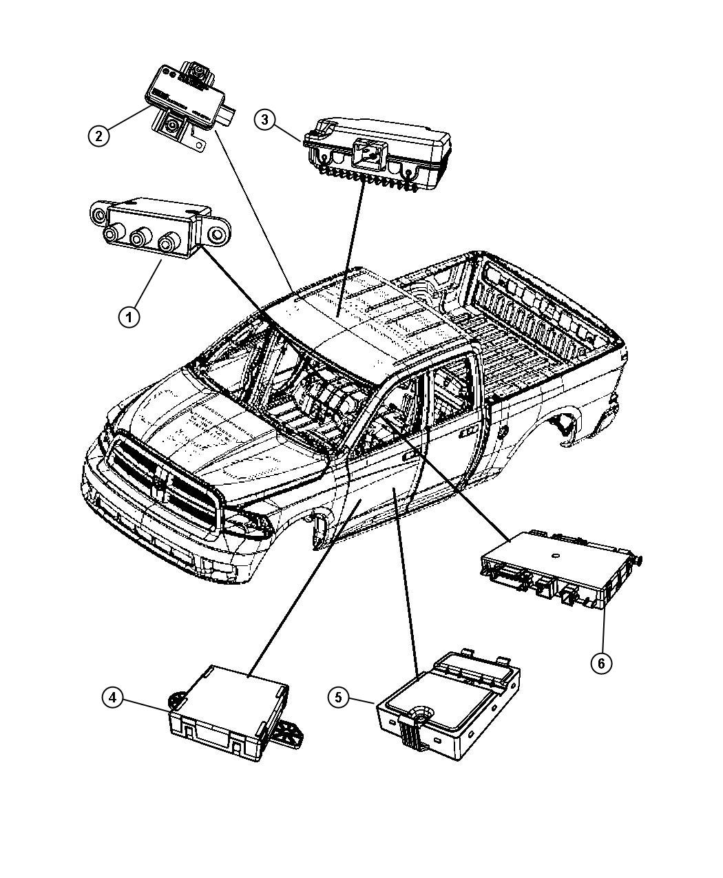 Dodge Ram Module Door Right Front Touch