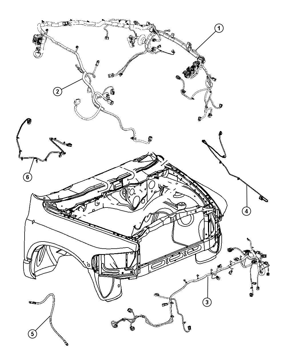 Dodge Ram 2500 Wiring. Front end module. [fog lamps], [fog