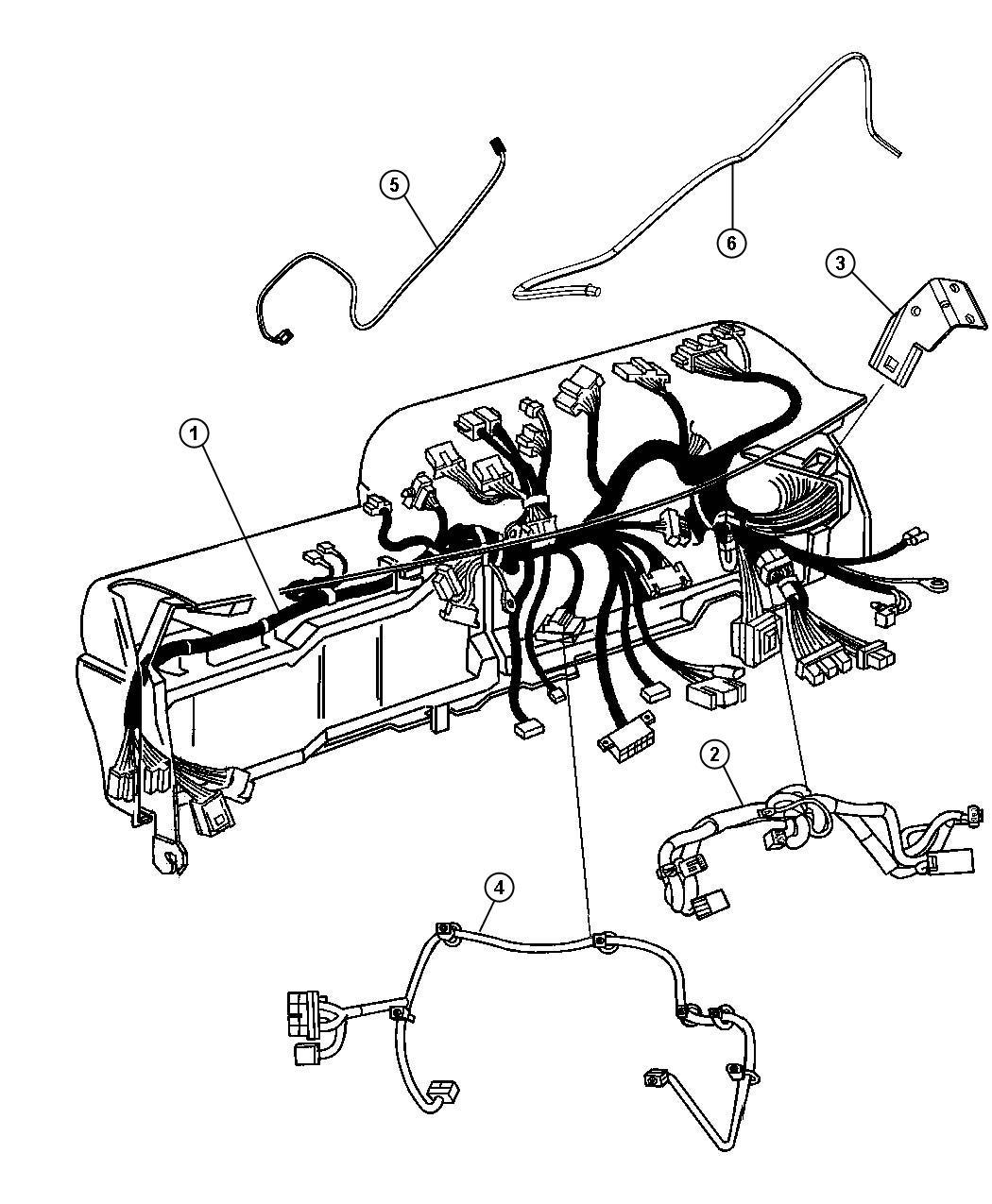 Dodge Ram 2500 Wiring. Instrument panel. Module, xrb, xac