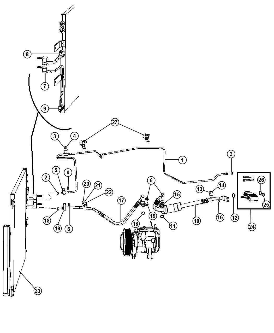 Dodge Ram Line A C Liquid Plumbing Conditioning