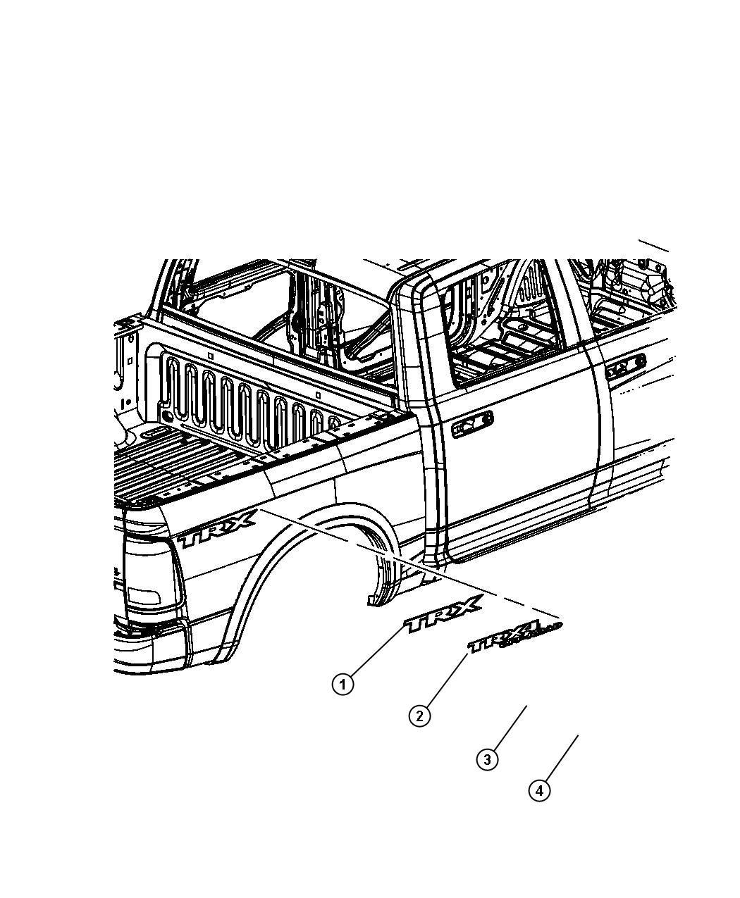 2011 Dodge Ram 1500 Decal. Outdoorsman. [outdoorsman