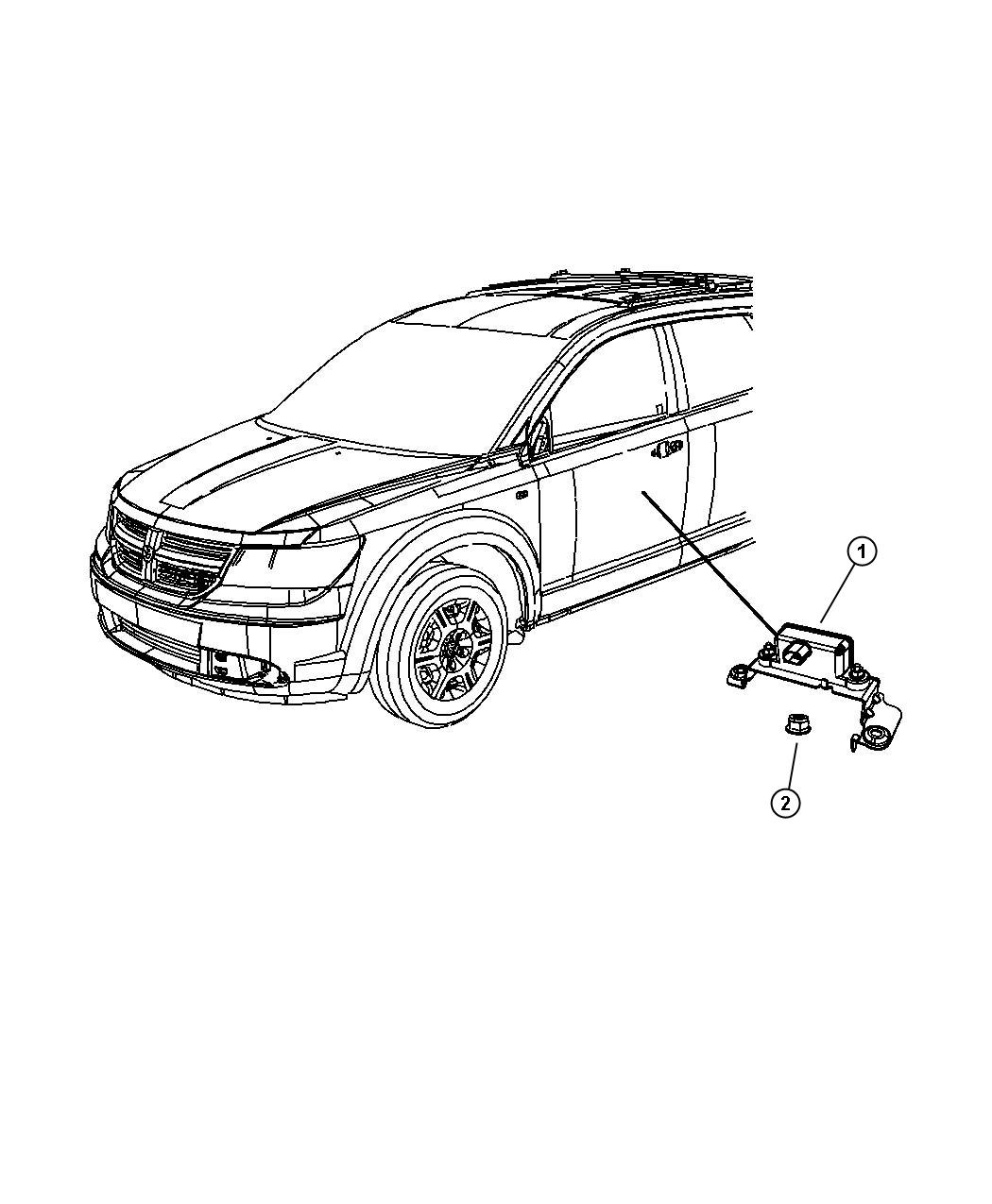 2009 Dodge Journey Sensor. Dynamics. Used for: lateral