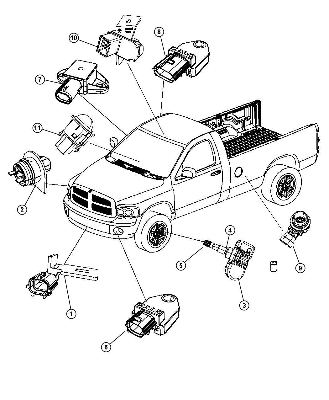2011 Jeep Liberty Sensor. Infrared. Trim: (*o0.). Rear