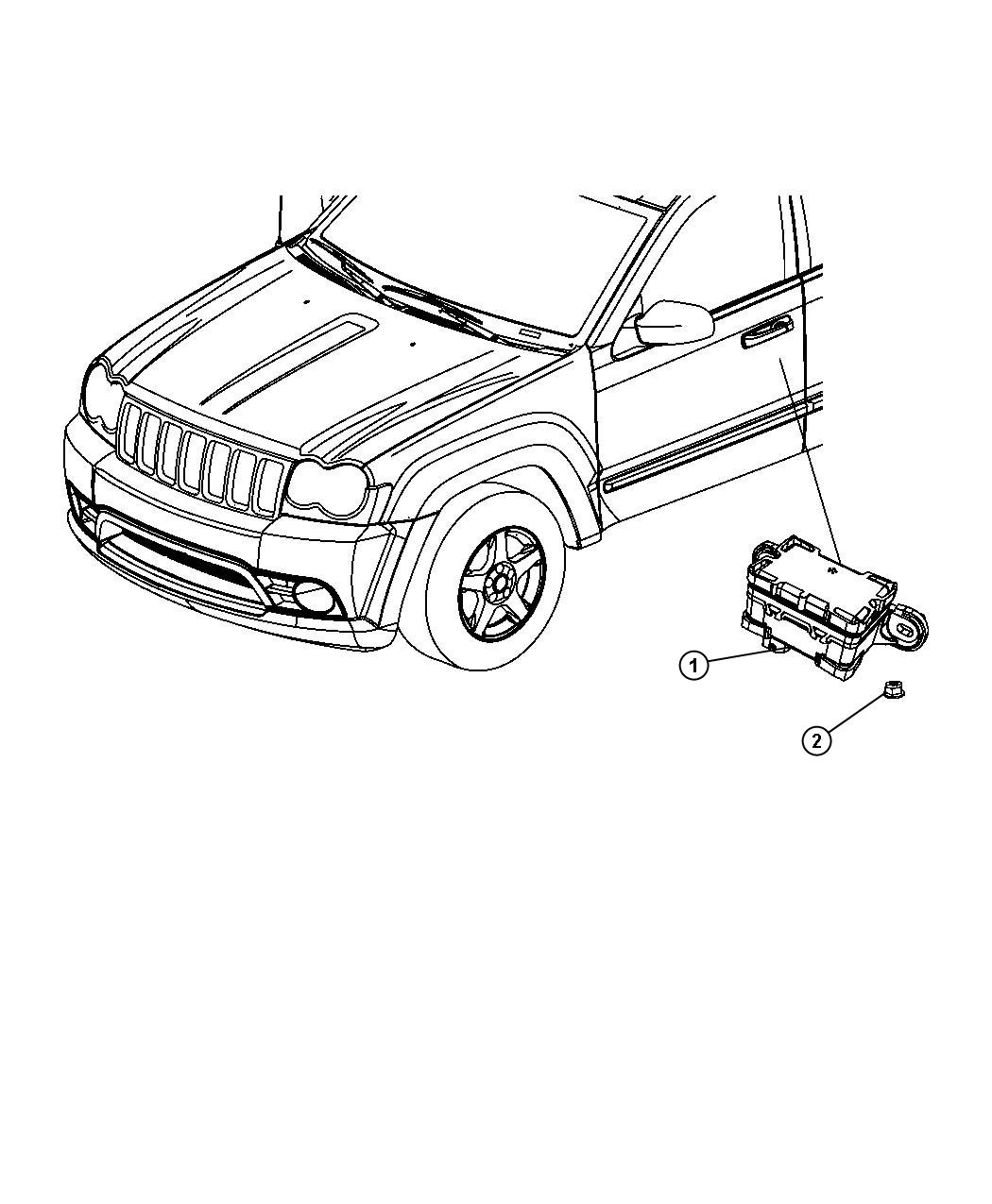Jeep Commander Sensor Dynamics Used For Lateral