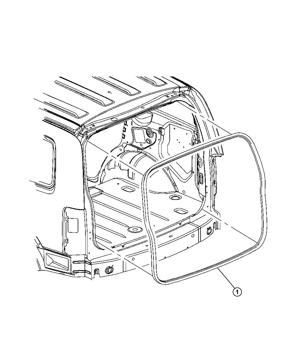 2011 Dodge NITRO W/strip. Liftgate opening. Body