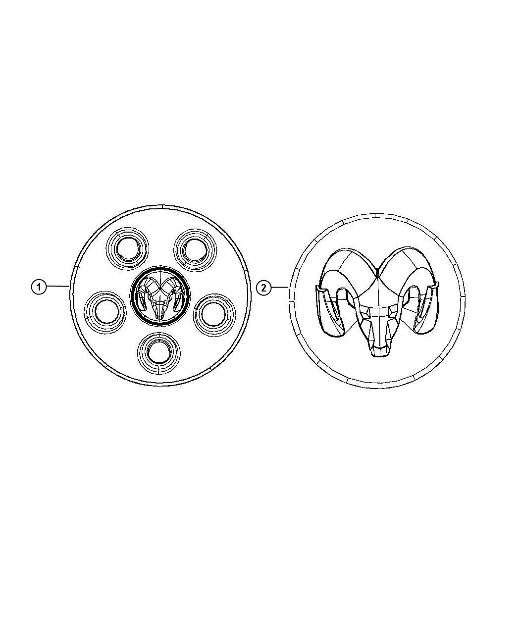 Dodge NITRO Cap. Wheel center. [16x7.0 styled steel wheels