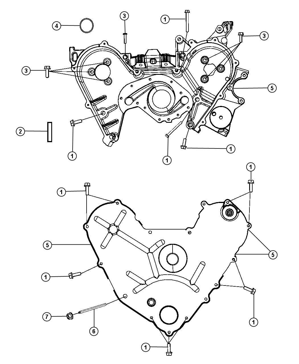 Dodge Nitro Cover Timing Case Inner Engine Belt