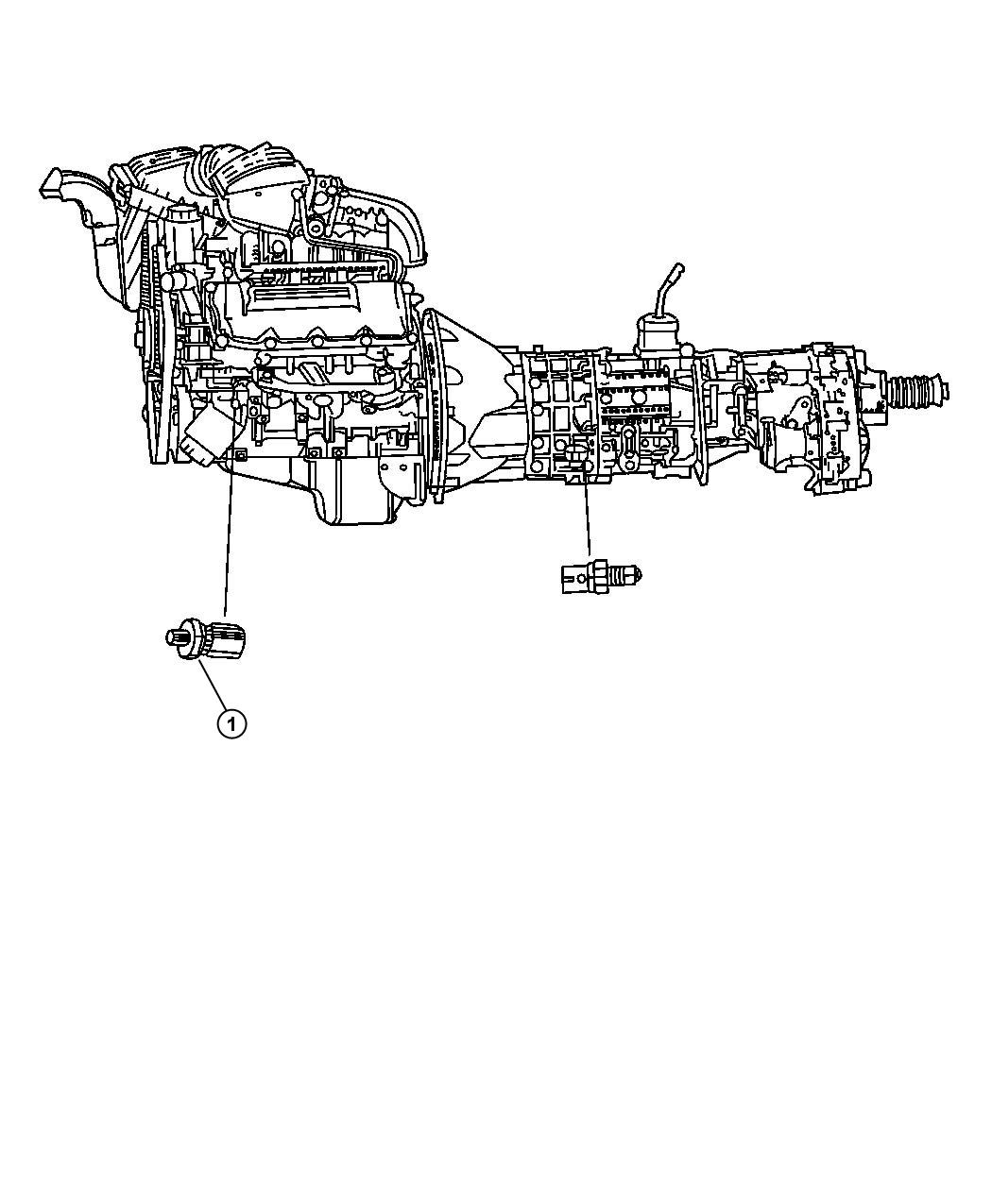 Dodge Nitro Sending Unit Switch Oil Pressure Ees Egn