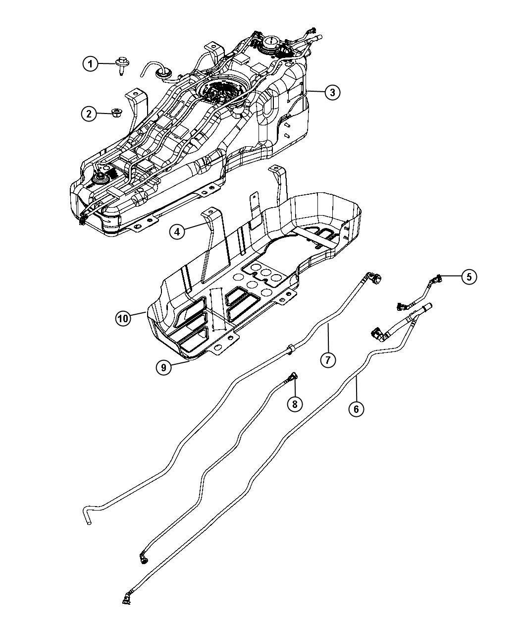 Jeep Liberty Wiring. Fuel tank. Gallon, plate, skid