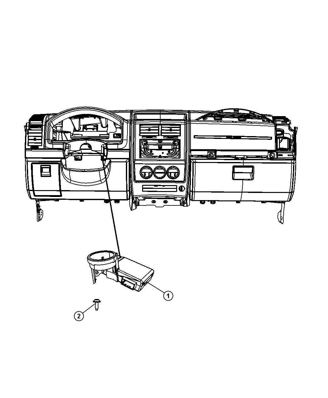Dodge Nitro Receiver Control Module Displayblack
