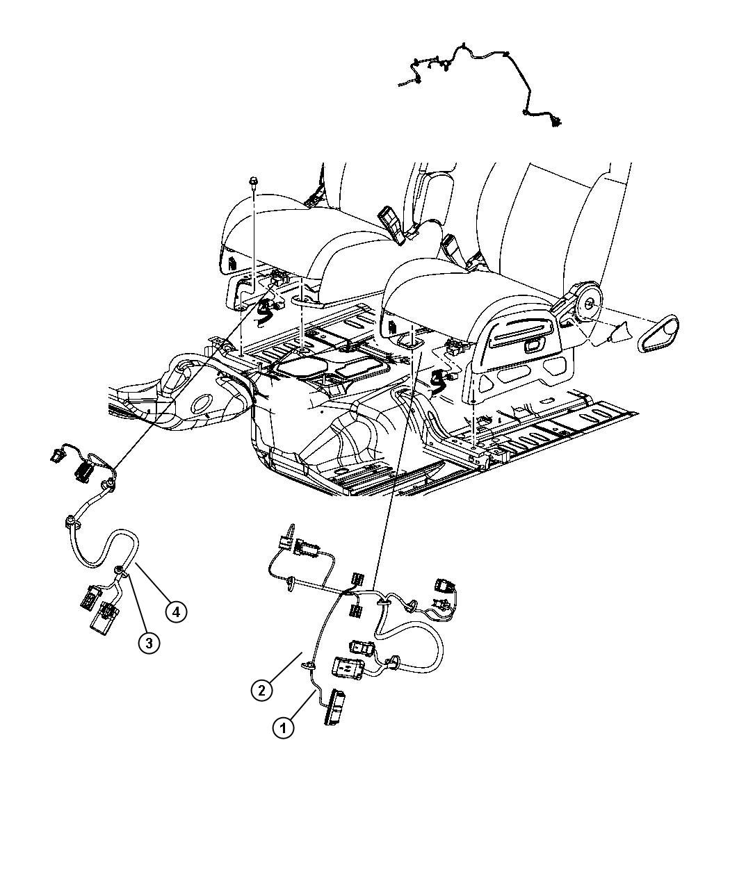 Jeep Liberty Wiring. Power seat. Export. 2 way, 2 way