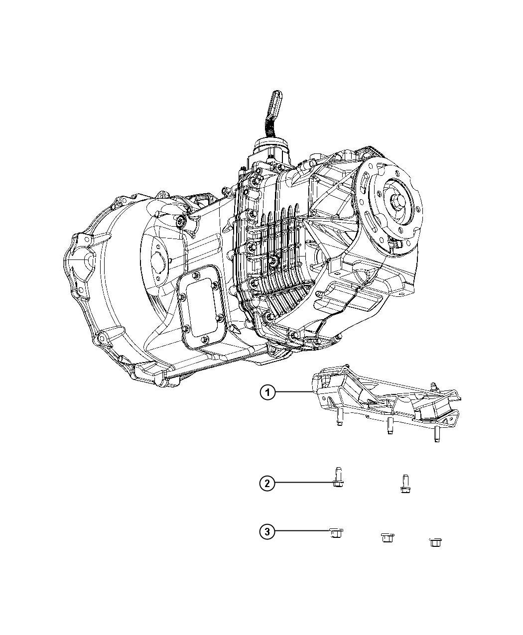 2015 Ram 5500 Bracket and insulator. Two wheel drive