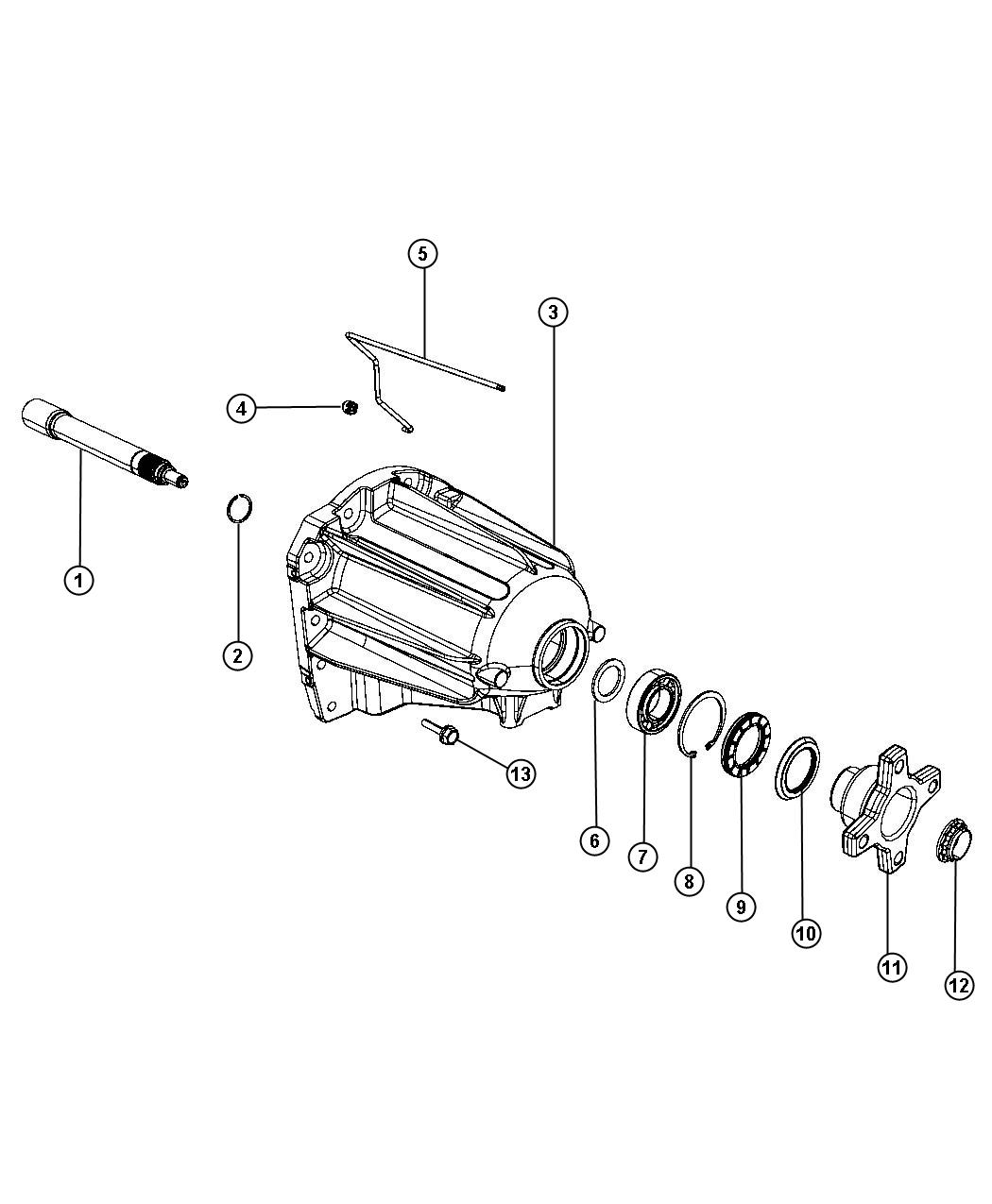 2011 Dodge NITRO Bearing. Output shaft. Extension