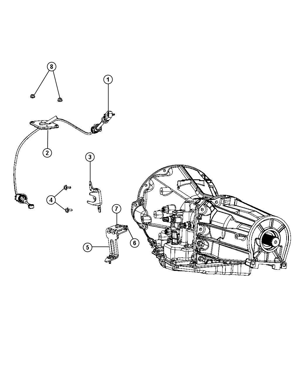 2007 Dodge NITRO Lever. Manual control. Gearshift