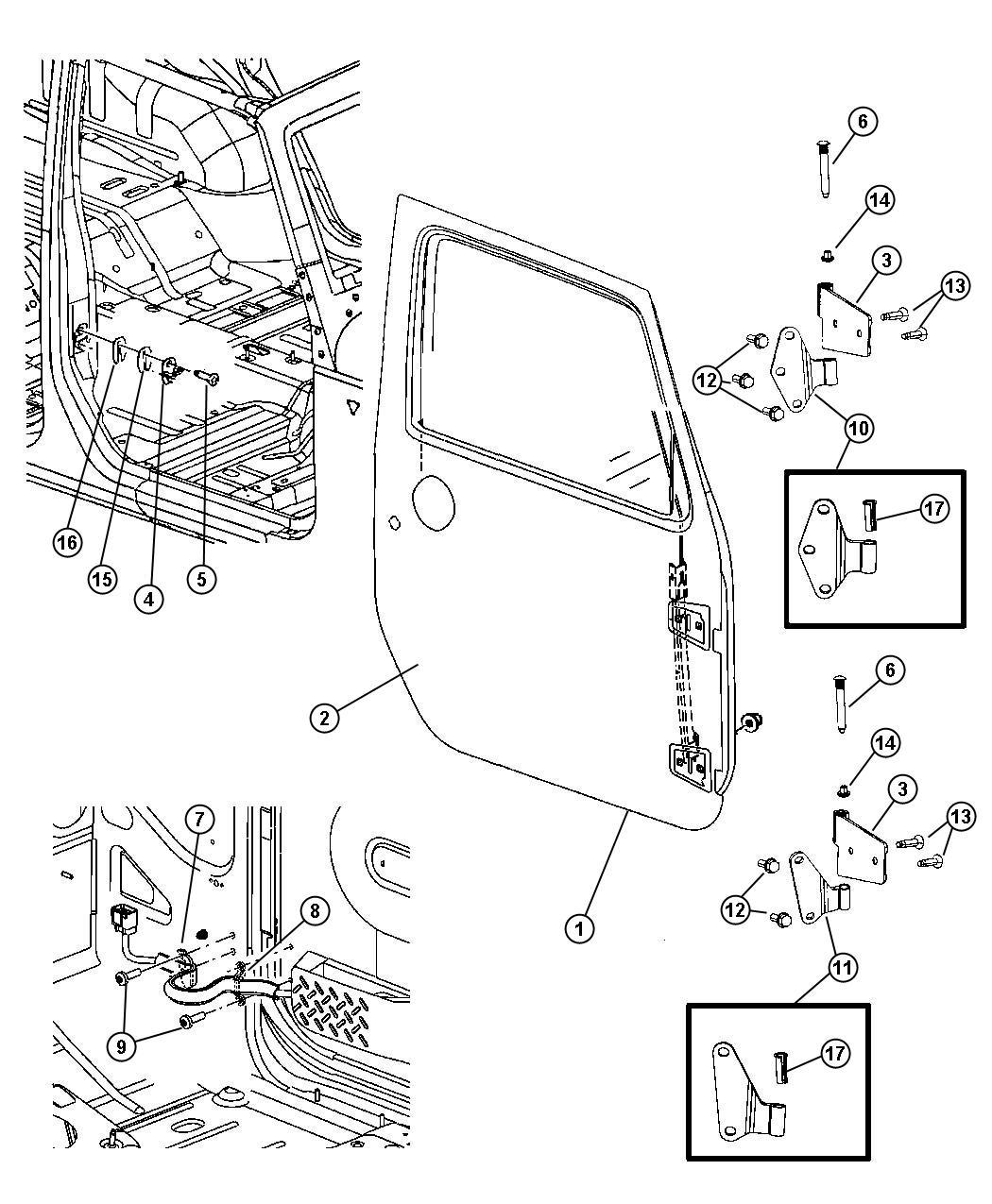 2017 Jeep Wrangler Door. Right. Front. [gcf], [x92], [gcf