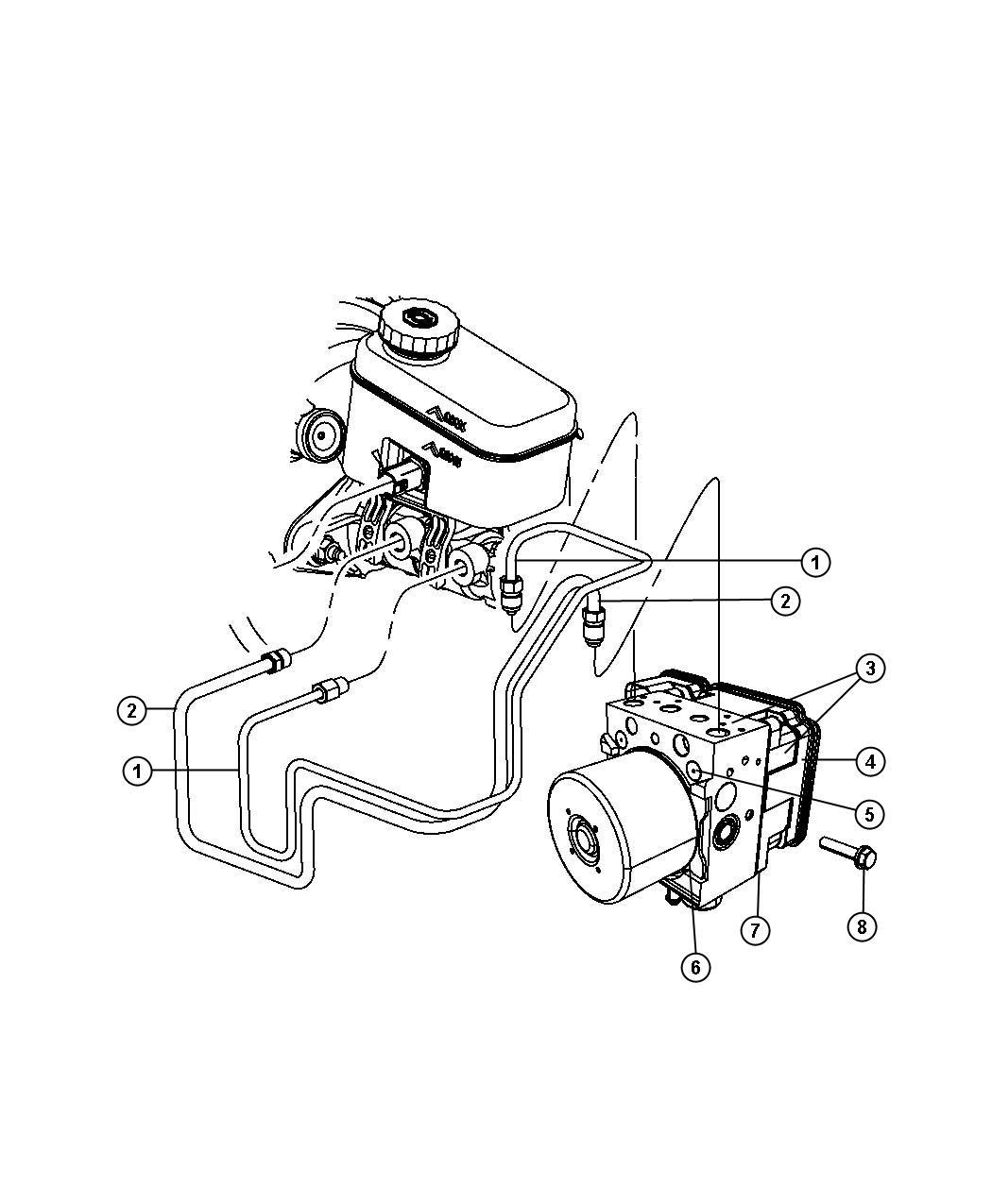 Jeep Wrangler Module Anti Lock Brake System Electronic