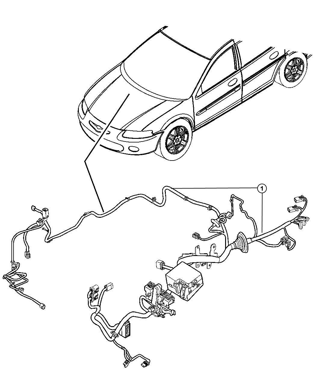 Dodge Express Wiring. Headlamp to dash. Mopar, electrical