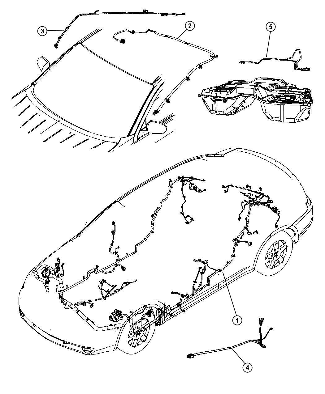 Chrysler Sebring Wiring Console Trim All Trim