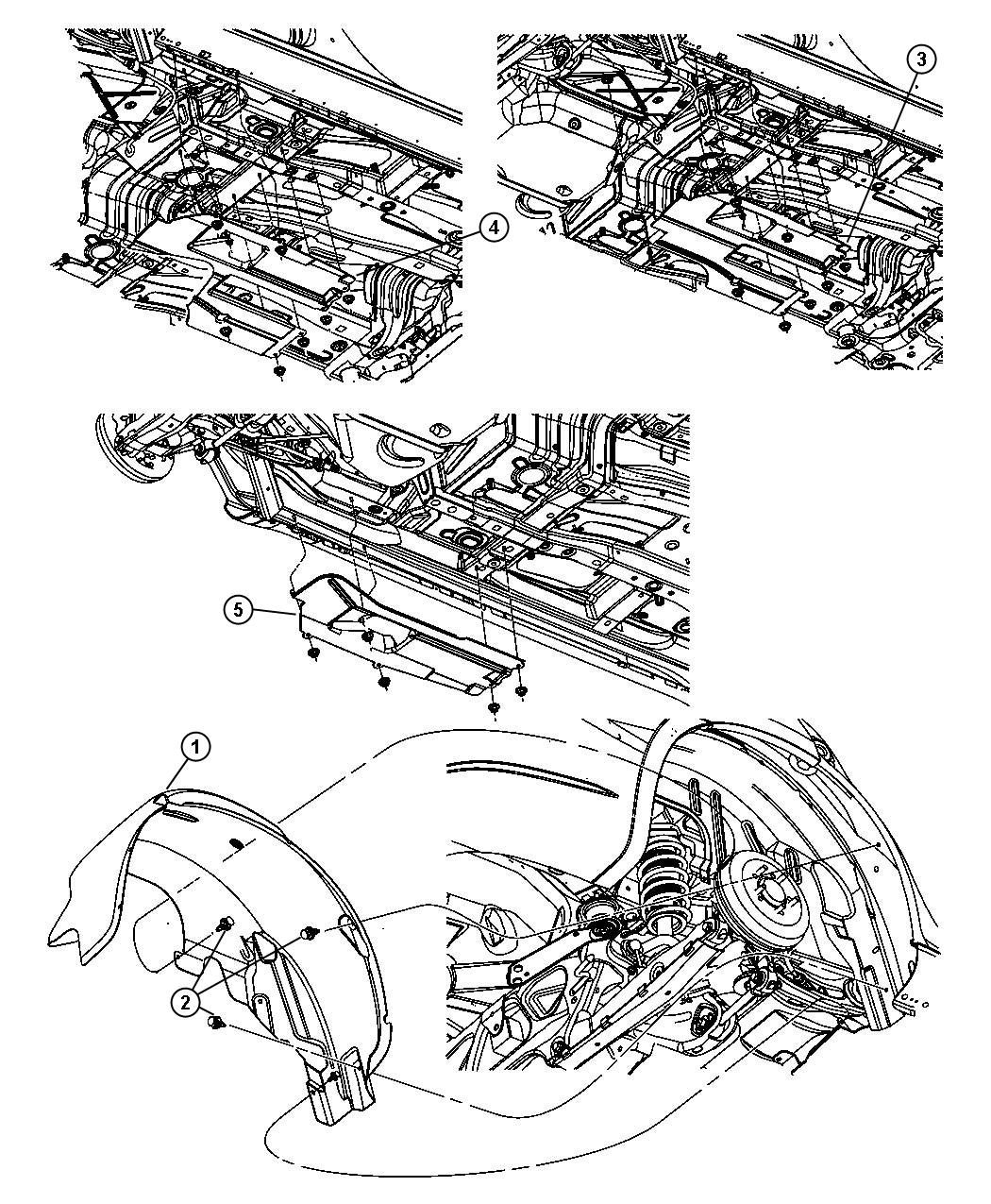 2011 Chrysler Sebring Shield. Splash. Rear. Right