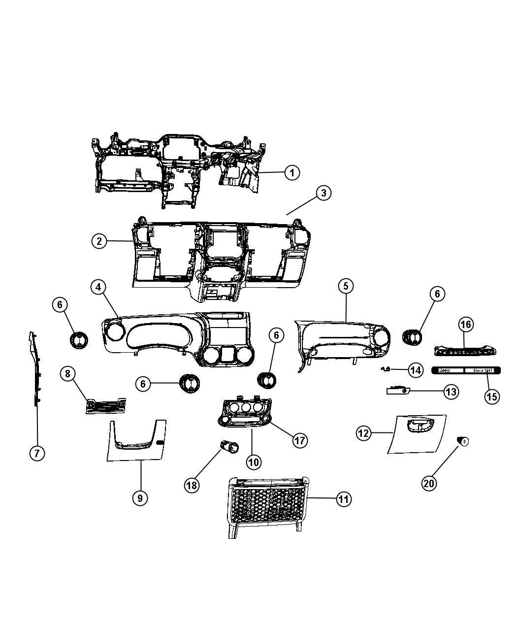 2011 Jeep Wrangler Seal. Weatherstrip. Trim: [all trim