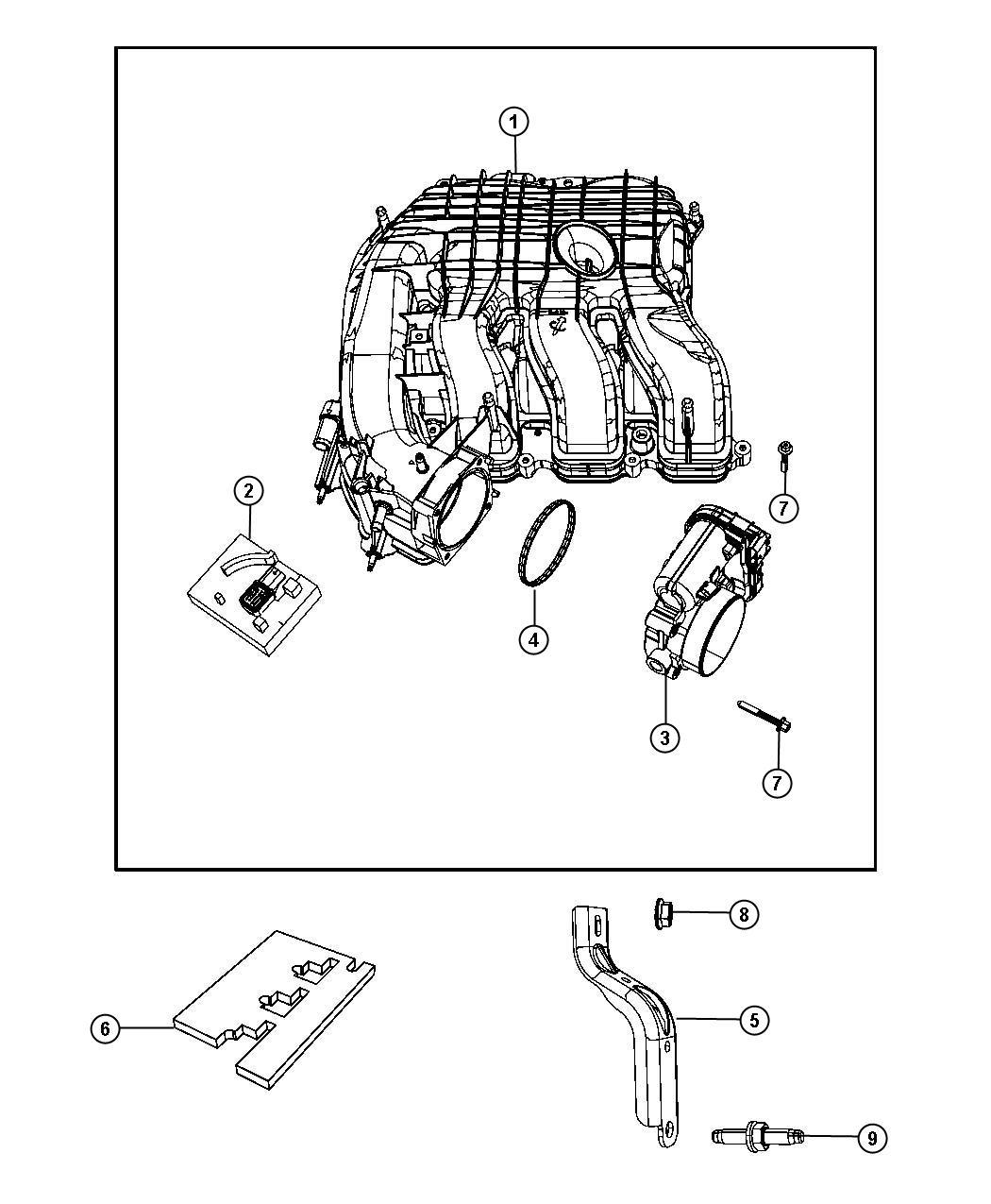 Chrysler Sebring Throttle body. [3.6l mid v6 engine