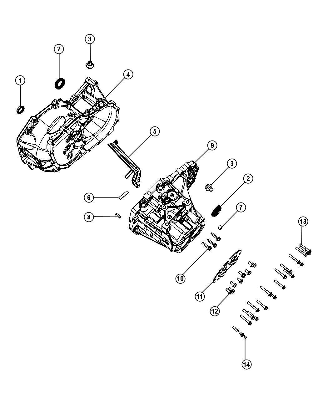 Dodge Caliber Seal. Axle drive shaft. Train, power, module